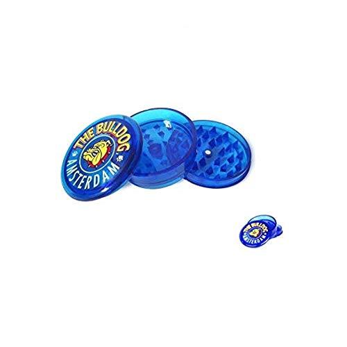 Macina Spezie in Plastica THE BULLDOG AMSTERDAG smontabile in 3 parti (Blue)