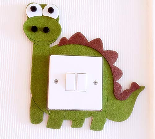 Super Cute 3D Dinosaur Light Switch Wall Sticker, Premium Quality Thick Felt Material, Unique On Amazon! Must Have For All Dinosaur Lovers! Kids Children Boys Girls Bedroom Nursery Room Decor!