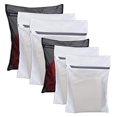 6 Pack Laundry Bag Delicates Mesh Wash Bag For Hosiery, Underwear, Bra,Garment Lingerie Effective Protection Travel Storage Organise Zipped Drying Machine Washing Bag