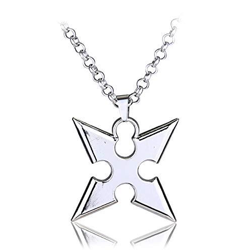YUNMENG Anime Kingdom Hearts Cosplay Collar Corona Colgante Llave Hoja Collar Gran Oferta joyería joyería de aleación de Zinc