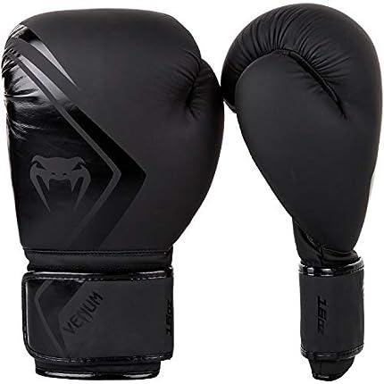 VENUM Contender 2.0 Guantes de Boxeo, Unisex Adulto, Negro/Negro, 16 Oz