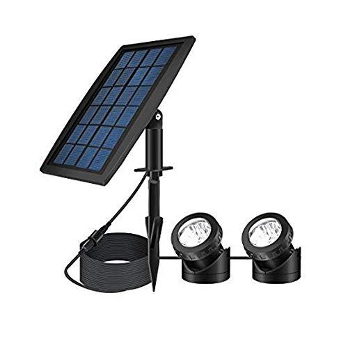 ASUMAN Lámpara de jardín alberca o Estanque, Impermeable, con energía Solar, con 2 focos LED, Resistente al Agua