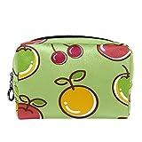 Rojo cereza amarillo limón mango verde 18.5x7.5x13cm/7.3x3x5.1in(L xW xH) bolsa de maquillaje bolsa monedero organizador cosmético bolsa de viaje organizador de accesorios