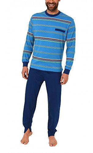 Normann Care Herren Pflegeoverall Langarm mit Reissverschluss am Rücken und Bein 16117090724, Farbe:hellblau, Größe:XXL