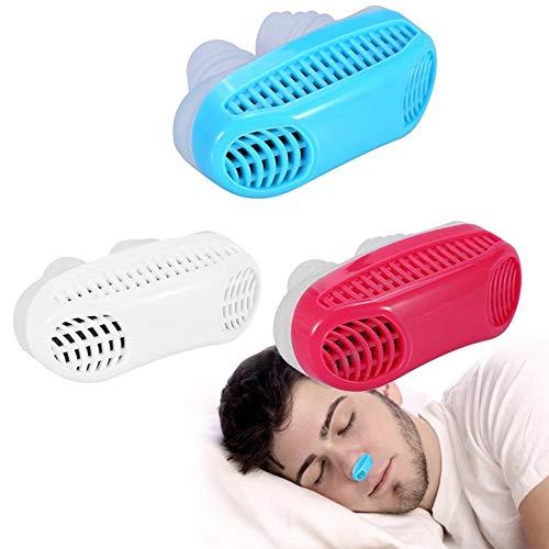 Dilatadores nasales antirronquidos, alivia los ronquidos Protector del tapón Fácil para dormir Ayuda respiratoria Clip Ayuda respiratoria Dilatador nasal(rojo)