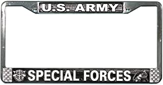 U.S. ARMY SPECIAL FORCES License Plate Frame - Metal Chrome