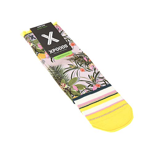 Xpooos Halbhohe Socken, 1 Paar, flache Nähte, Frou Frou Original, dünn Gr. One size, mehrfarbig