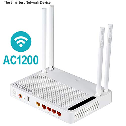 JSX AC1200 Draadloze Router, Smart Dual Band 2.4Ghz/5.0Ghz Gigabit Wifi Router Draadloze Repeater