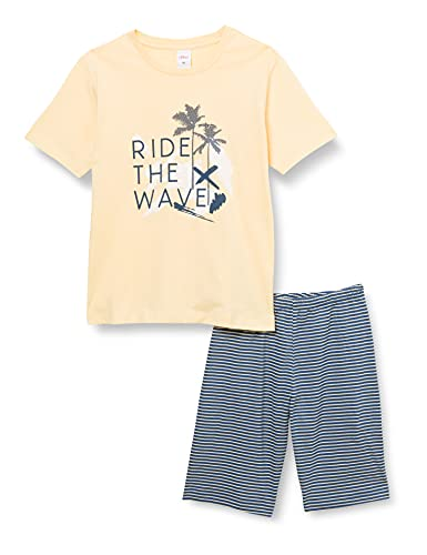 s.Oliver Jungen Pyjama short motiv blau Pyjamaset, Ink Blue, 128