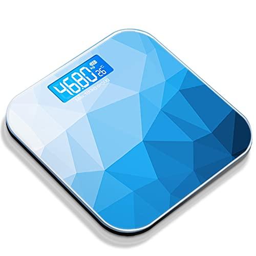 JSJJAUJ Corporal Báscula Pantalla LCD Pesa de baño Pesa de baño Escala Hogar preciso Gimnasio Escalas Inteligentes Body Pesaje Digital Escala electrónica (Color : C1 Blue)