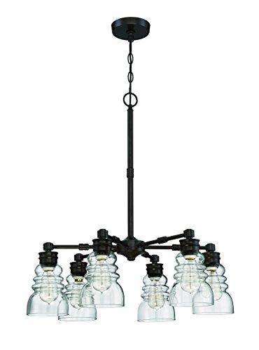 Litex CH46-6OSB 6 Light Modern Chandelier Pendant Ceiling Light Fixture, 5.5' x 5.5' x 46'