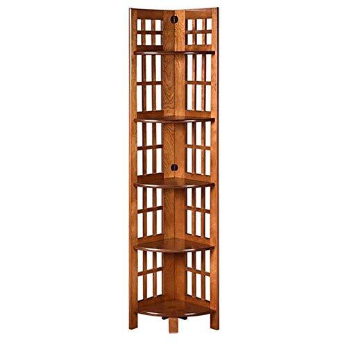 Estantes de decoración de muebles Estantería de la torre de la columna vertebral Estantería de esquina Estantería de exhibición Estante de exhibición Organizador de libros artísticos para la oficin