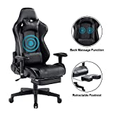 HEALGEN Back Massage Gaming Chair with Footrest,PC Computer Video Game Racing Gamer Chair High Back Reclining Executive Ergonomic Desk Office Chair with Headrest Lumbar Support Cushion