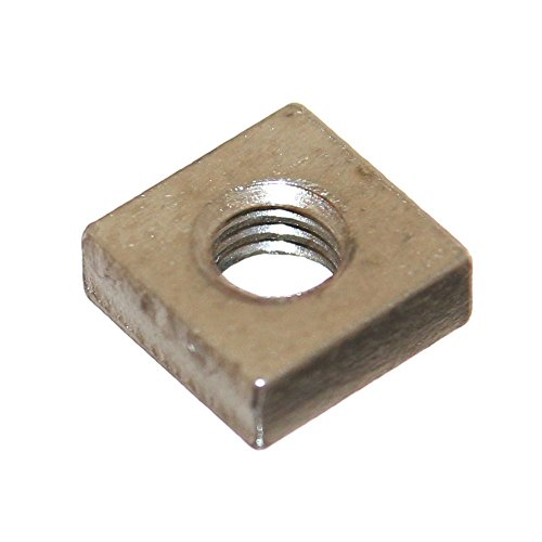 Joy-Button 10x Mini 4-Kant Mutter M6 für Nut Modellbau Muttern Vierkantmutter Einlegemutter Nutenstein Kulissensteine Neu (M6)