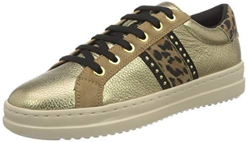 Geox D Pontoise G, Zapatillas Mujer, Oro (Platinum Dk marrón), 40 EU