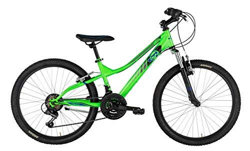 Mountain Bike FLIP da ragazzo con telaio in alluminio 42 cm, forcella ammortizzata Verde