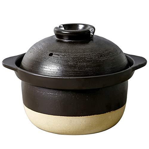 NXYJD Keramik-Auflauf Kochtopf Kreativer Doppelte Abdeckung Geschmorter Reis Topf Haushalt Suppe Gas Brei Auflauf