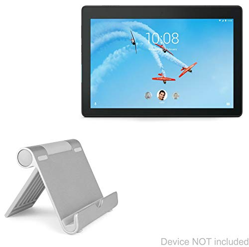 Lenovo Tab E10 Stand and Mount, BoxWave [VersaView Aluminum Stand] Portable, Multi Angle Viewing Stand for Lenovo Tab E10