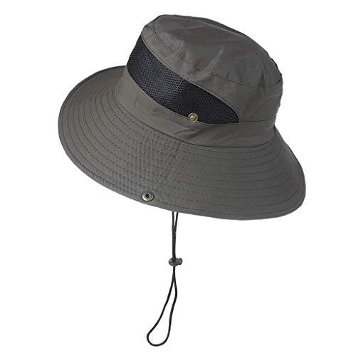 Best Review Of KCPer Sun Hat for Men/Women, Sun Protection Wide Brim Bucket Hat Waterproof Breathabl...