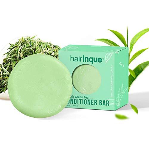 Bio-Haarspülung, ROMANTIC BEAR Handmade VITAMIN C Feuchtigkeitsspendende, pflegende Haarspülung Shamoo Bar Soap Hair Care Conditioner Bar(Grüner Tee)
