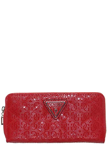 Guess Damen Astrid Large Zip Around Wallet Geldbörse, rot, Einheitsgröße