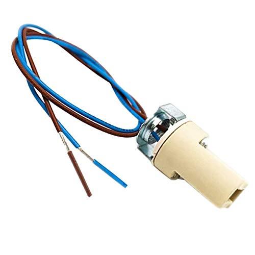 ODETOJOY G9 Lampenfassung Mit isol. Kabelzuleitung Lampensockel Fassung Sockel für LED Halogen Fassung Sockel Keramik mit Qualitäts 0,75mm² kabel (1 Stk. G9 Lampenfassung)