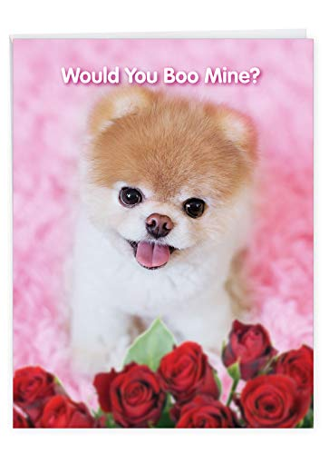 The Best Card Company, Jumbo Valentine's Day Card (8.5 x 11 Inch) - Vday Greeting Card for Valentines - Boo My Valentine J6754IVDG
