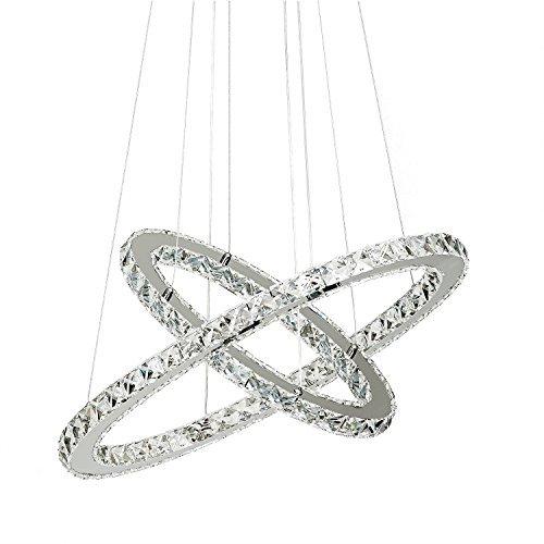 Lampadari, TopMax 2 ovale anello 40*60 cm cristallo lampada a sospensione lampada a sospensione lampada a soffitto a LED (S60)