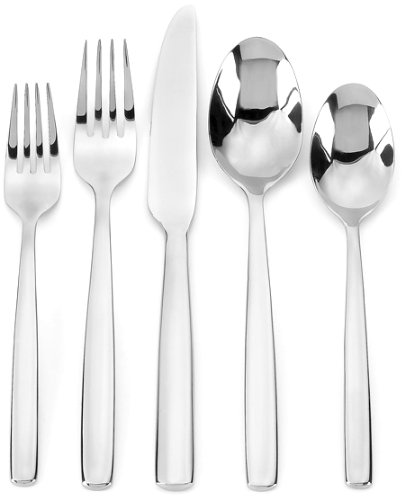 Ginkgo International Simple 42-Piece Stainless Steel Flatware Place Setting, Service for 8 Plus 2-Piece Hostess Set