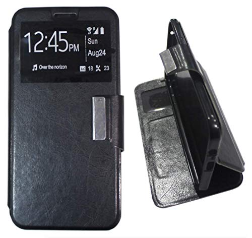 Mb Accesorios Funda Tapa Libro Negra para Motorola Moto E5 Plus - Interior. Silicona