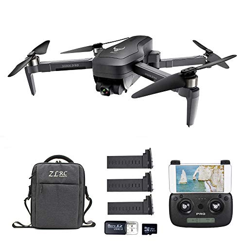 Goolsky SG906 PRO GPS RC Drone con Fotocamera 4K 5G WiFi 2 Assi Gimbal 25mins Tempo di Volo Brushless Quadcopter Seguimi MV Foto Gesto con Borsa Portatile
