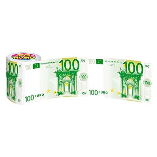 Toilettenpapierrolle / Klopapierrolle - 100 Euro Design- Geldscheine, Banknoten, Noten - ideales Geschenk