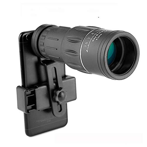 Telescopio Monocular para Teléfono Móvil Potente 40X60 Prismáticos Impermeables De Largo Alcance con Zoom Alto para Acampar Observación De Aves Día Y Noche con Adaptador para Teléfono