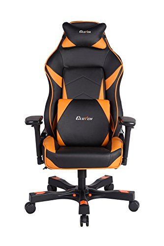 Clutch Chairz Shift Series Bravo Mid-Sized Gaming Chair (Orange)