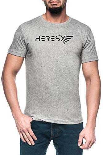 Heresy White Herren Grau T-Shirt Kurzarm Men's Grey T-Shirt