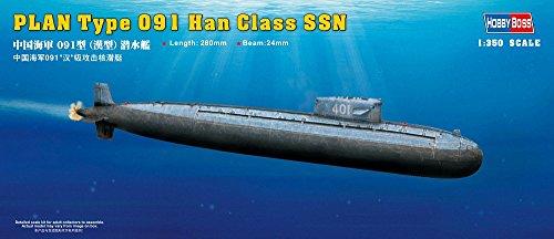 1/350 中国海軍 019型 漢級 潜水艦 プラスチックモデル ホビーボス
