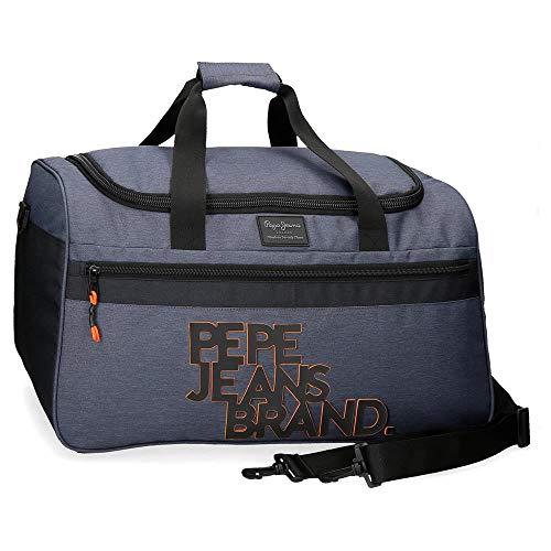 Pepe Jeans Troy Bolsa de Viaje Azul 52x29x29 cms Poliéster 43,73 L