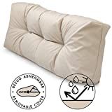 Spatium Cushions for Euro Pallet exterior and interior Removable waterproof pillow case Beige Long Backrest 120x40x15