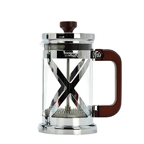 Manual Coffee Grinder -Francés tipo de filtro jarra presión cafetera presión de la mano de café punzón vidrio máquina for preparar té 350/600 ml (Tamaño: 8 * 17 cm (350 ml)) Haike (Tamaño: 10 * 19cm (