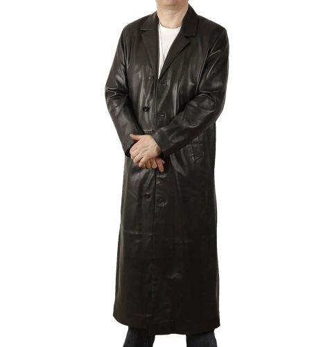 Simons Leather Manteau Long en Cuir - Taille 2XL