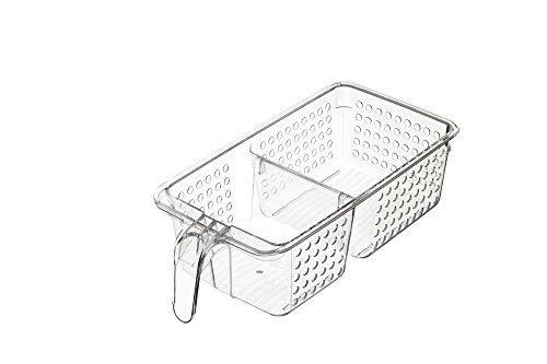 Kitchencraft medio plástico Nevera/armario organizador caja de almacenaje