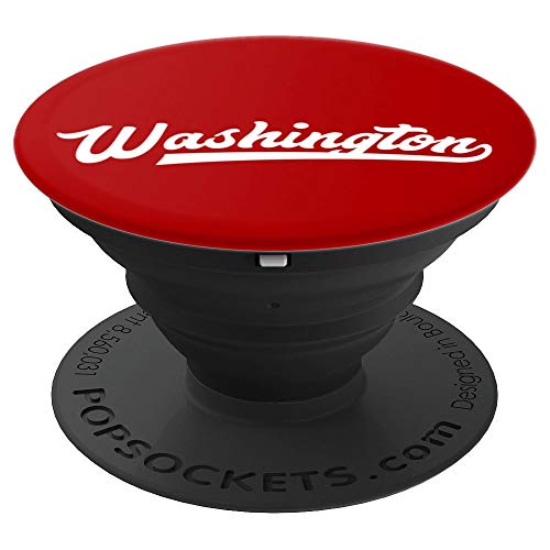 Vintage I Love Washington DC Baseball Script PopSockets Grip and Stand for Phones and Tablets