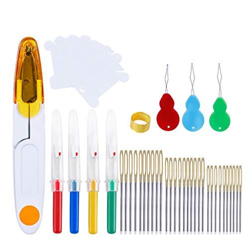 MISHITI Agujas de mano con costura Ripper Hilado Tijera Dedal Herramientas de costura Set Accesorios para Bordado Quilting DIY Arte Artesanía