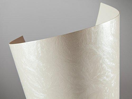 20 FALAMBI Premiumkarton Frost - perlweiß, Papier 220 g/m², bedruckbar, metallic Karton, durchgefärbt