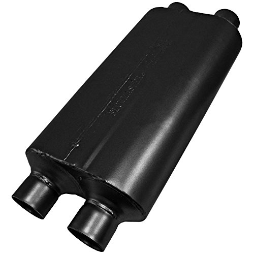Flowmaster 8525554 50 H.D. Muffler 409S - 2.50 Dual IN / 2.50 Dual OUT - Moderate Sound