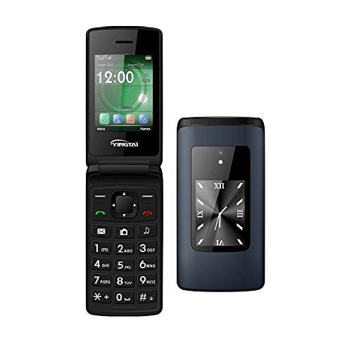 Teléfono Móvil con Tapa para Personas Mayores con Teclas Grandes, Fácil de Usar Celular para Ancianos by YINGTAI T30 2G