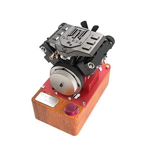 deguojilvxingshe TOYAN FS-V400A - Motor de 4 cilindros de 4 tiempos con juego de encendido, 3,5 ccm, motor de 4 clavijas para 1:10 1:12 1:14 RC Car Ship Plane