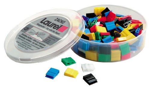 Laurel Klapphefter 1/2845-95 11x14 mm Grundfarben sortiert Plastik Inh.120 Stück