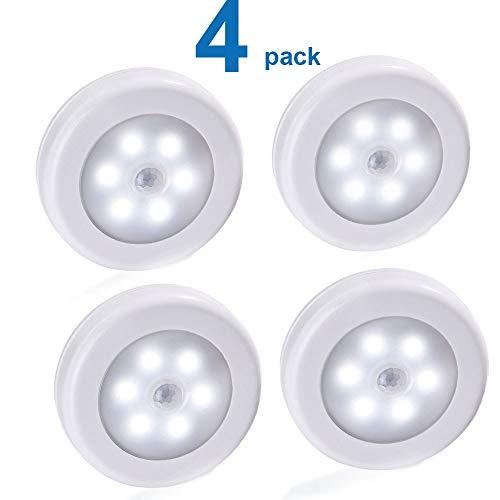Nachtlicht für Kinder Motion Sensor Active Light Batterie PIR LED-Nachtlichter Magnetic Wireless-Kabinett Schrank Treppe Wandleuchte for Flurbeleuchtung (Emitting Color : White Color)