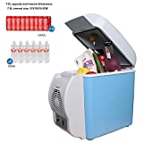 HKIASQ Glacière électrique Portable,Réfrigérateur de Voiture,Mini-Frigo,12V,...
